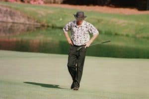 A golfer fails because of failure to control his game