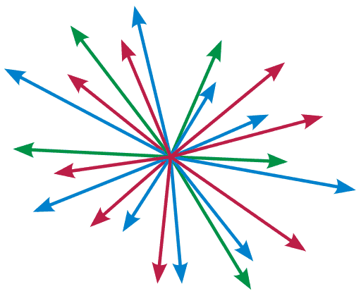 Many disordered arrows to consider