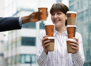 First job may be very basic, like getting and carrying coffee for six members of a team