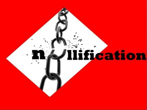 Nullification of the legal chain of reasoning