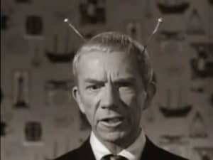 My Favorite Martian, Uncle Martin, with two antennae forking from the back of his head