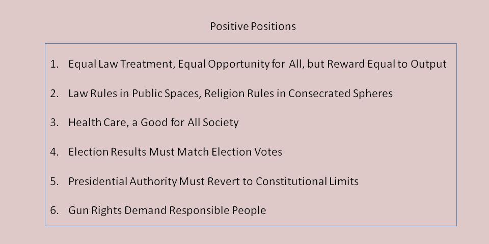 Positive Principles