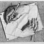 Like Escher's Drawing Hands, I'm reading to understand writing craft for future stories.