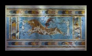 Cretan leaping over a bull