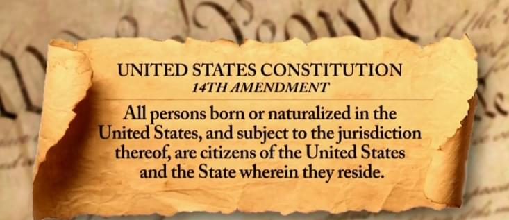 Text of the 14th Amendment defines citizens as people