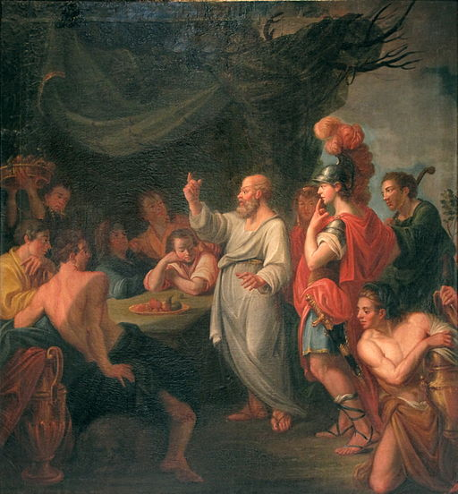 Socrates instructing Pericles in the facts of ancient civilization