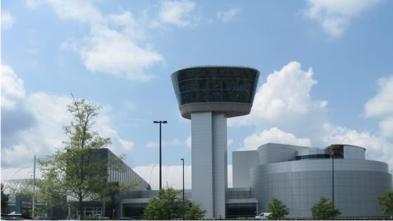 Tower and Buildings of Dulles National Air and Space Museum