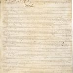 "Constitution, image of first page starting ""We the People"""