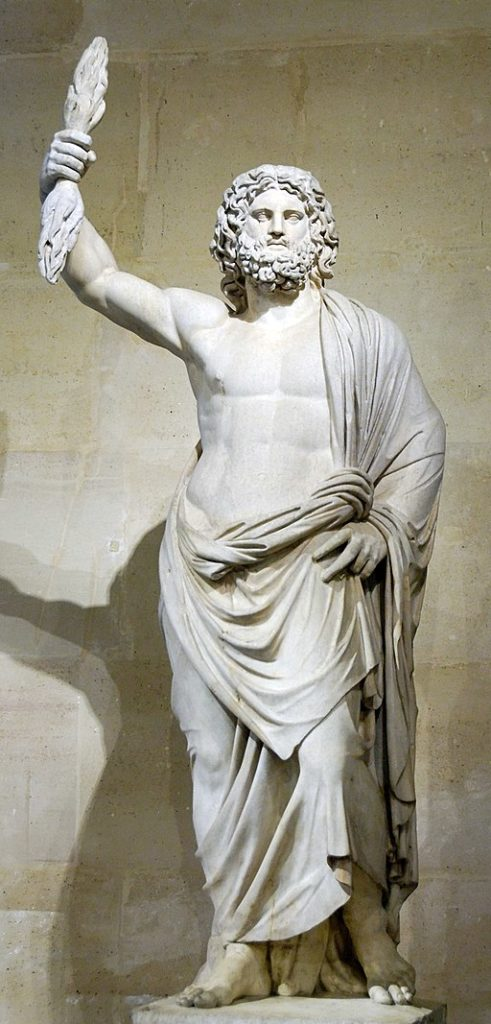 August Zeus, on Mount Olympus towering over all decisions